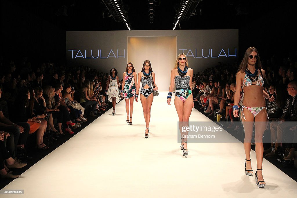 Models walk the runway showcasing designs by Talulah at the Best of #MBFWA show at Mercedes-Benz Fashion Week Australia - Weekend Edition at Carriageworks on April 13, 2014 in Sydney, Australia.
