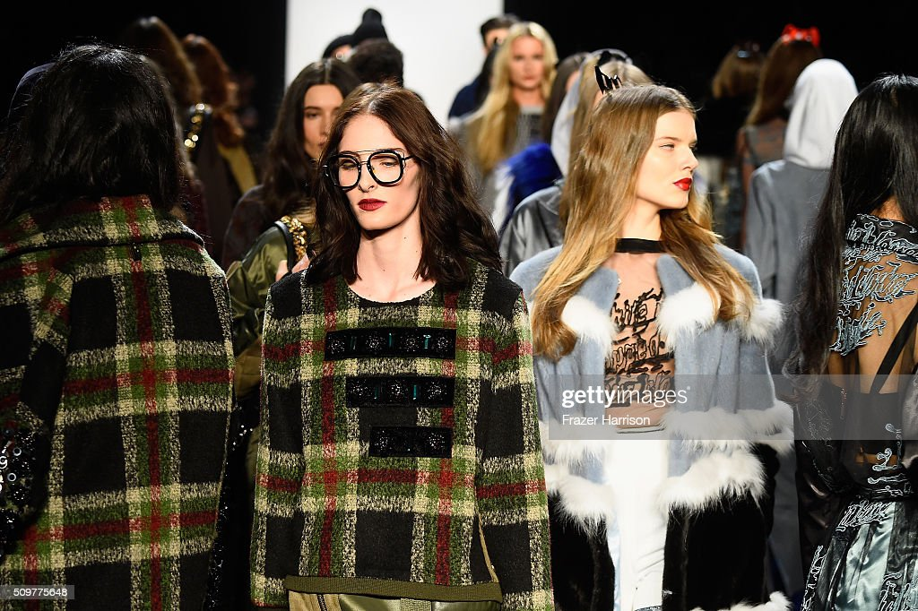 Models walk the runway wearing Concept Korea Fall 2016 during New York Fashion Week: The Shows at The Dock, Skylight at Moynihan Station on February 12, 2016 in New York City.
