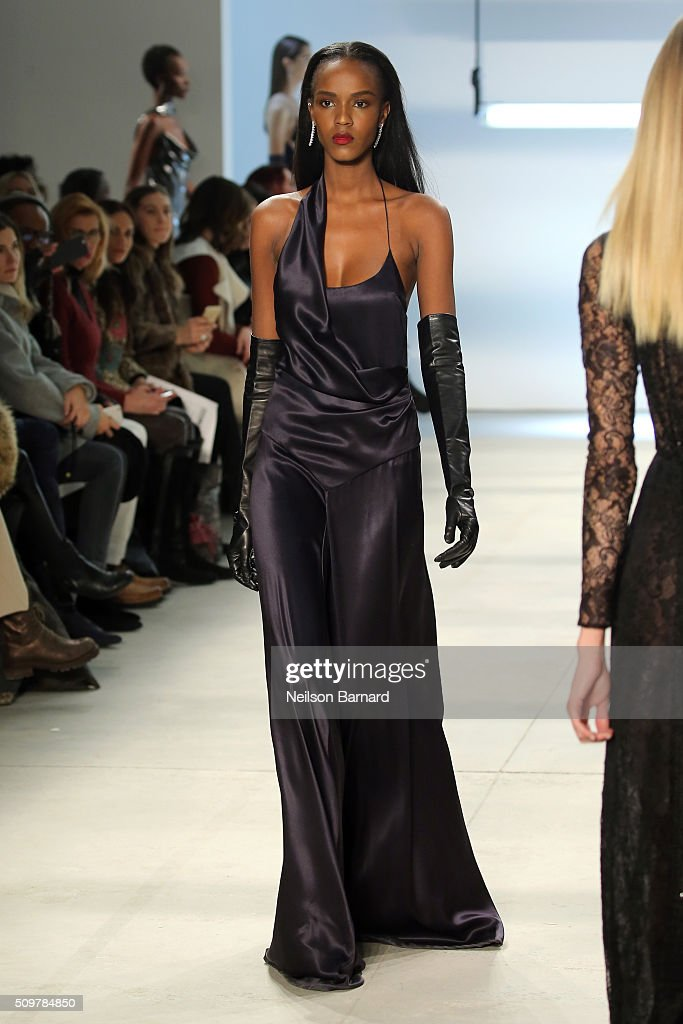 Models walk the runway wearing Cushnie Et Ochs Fall 2016 during New York Fashion Week: The Shows at The Gallery, Skylight at Clarkson Sq on February 12, 2016 in New York City.