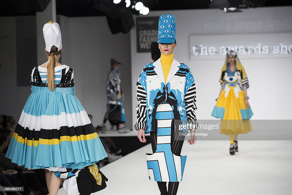 Models walk the runway wearing designs by Holly Jayne Smith during the Best of Graduate Fashion Week show during day 4 of Graduate Fashion Week 2014 at The Old Truman Brewery on June 3, 2014 in London, England.