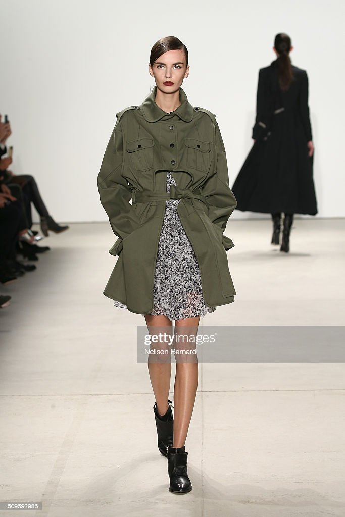 Models walk the runway wearing Marissa Webb Fall 2016 during New York Fashion Week: The Shows at The Gallery, Skylight at Clarkson Square on February 11, 2016 in New York City.