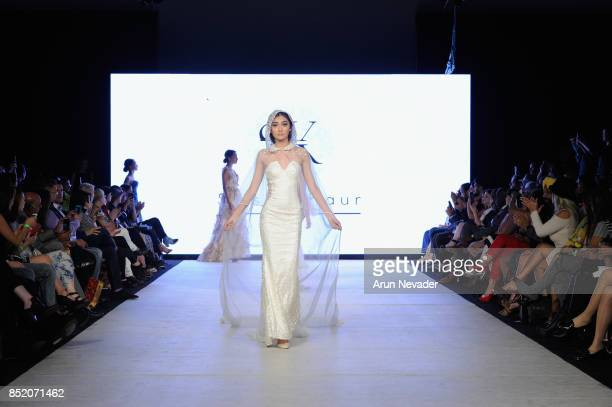 Models walk the runway wearing Srishti Kaur Designs at 2017 Vancouver Fashion Week Day 5 on September 22 2017 in Vancouver Canada