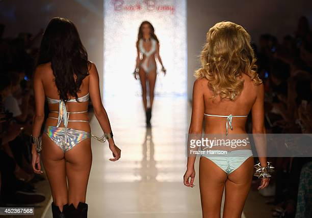 Models walk the runway with TRESemme at the Beach Bunny Featuring The Blonds show during MercedesBenz Fashion Week Swim 2015 at Cabana Grande at The...