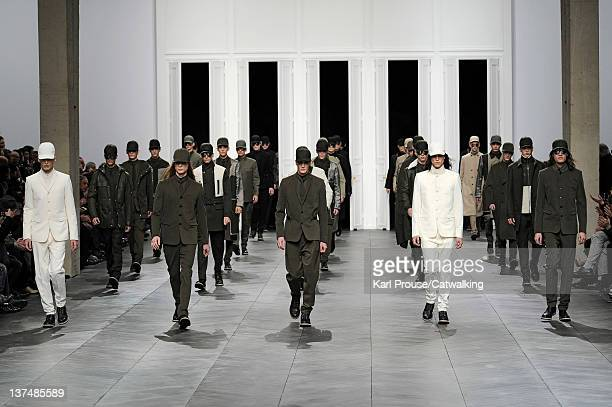Models walks the runway at the Dior Homme Autumn Winter 2012 fashion show during Paris Menswear Fashion Week on January 21 2012 in Paris France