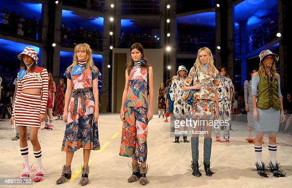Models walks the runway at the House of Holland show during London Fashion Week Spring/Summer 2016/17 on September 19 2015 in London England