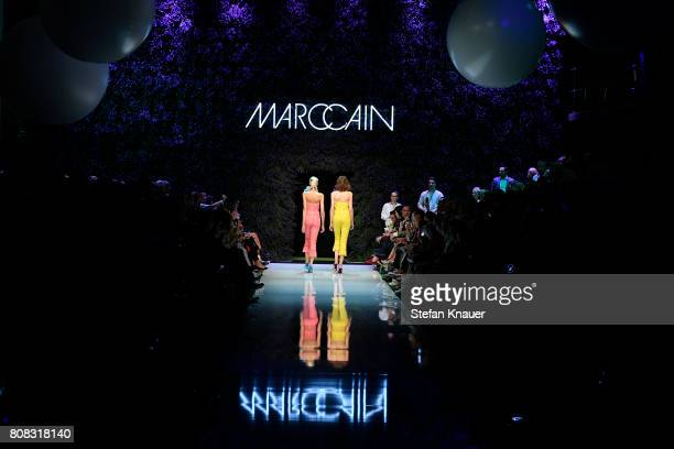 Models walks the runway at the Marc Cain Fashion Show Spring/Summer 2018 at ewerk on July 4 2017 in Berlin Germany