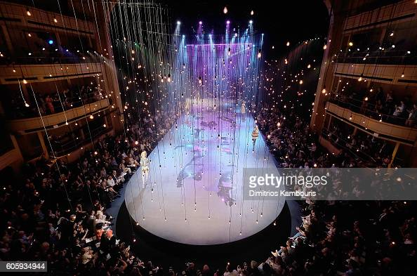 Models walks the runway during the Marc Jacobs Spring 2017 fashion show during New York Fashion Week at the Hammerstein Ballroom on September 15 2016...