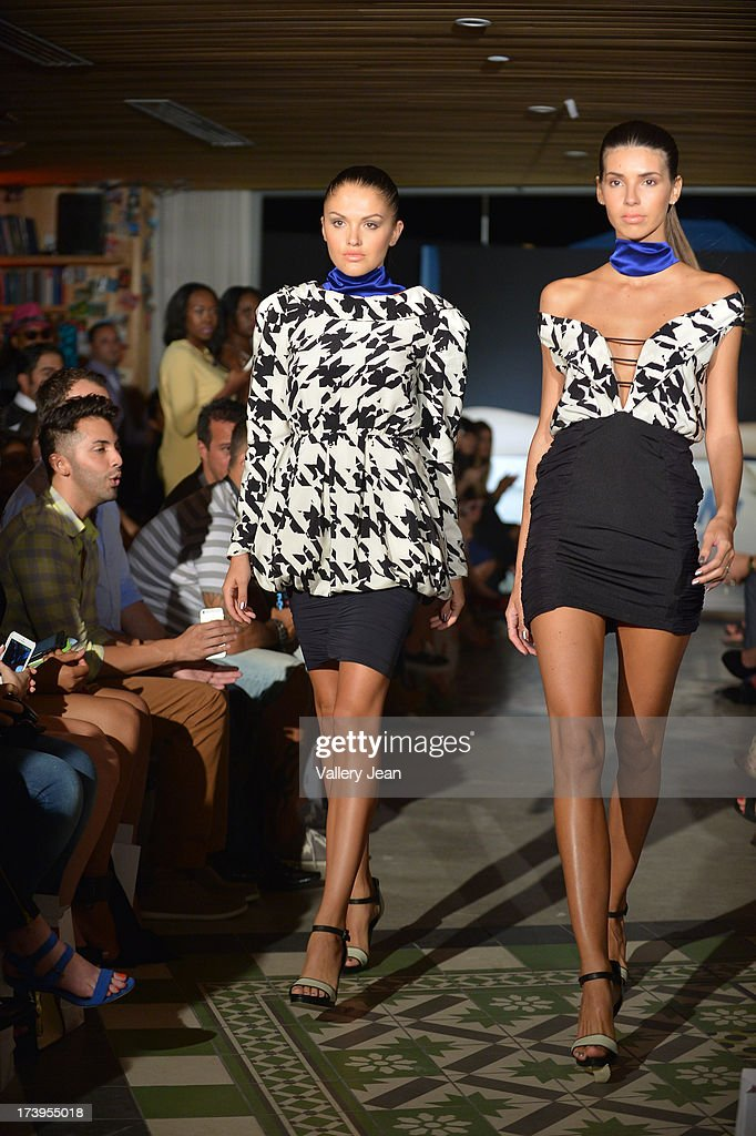 Models walks the runway during the Peroni Emerging Designer Series presented by Fashion Group on July 17, 2013 in Miami, Florida.