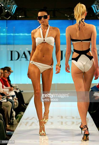 Models wear creations from the David Jones 2005 Summer Collections in Sydney 11 August 2005 The collections which showcase some of the local...