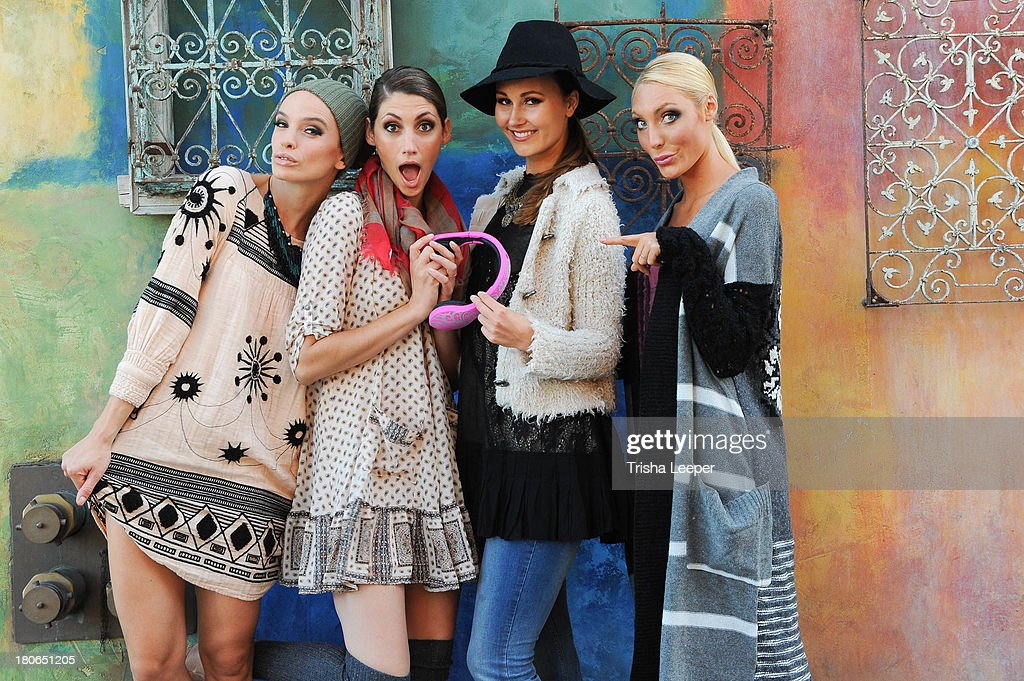 Models wear designs by Free People and Velodyne Headphones at the attends Santana Row Fall Fashion Show 2013 on September 14, 2013 in San Jose, California.