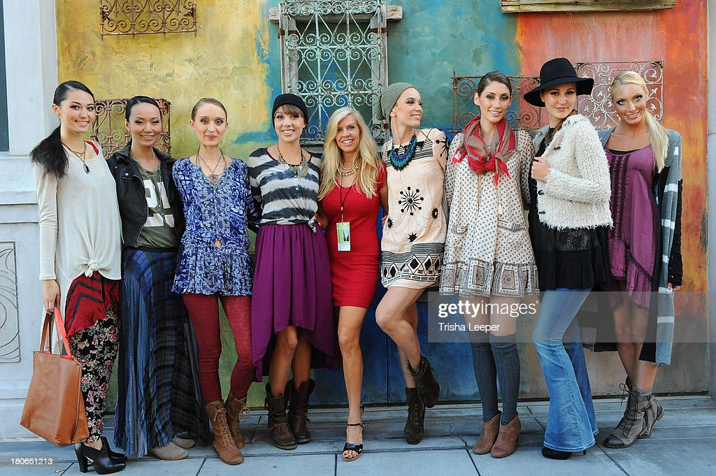 Models wear designs by Free People at the Santana Row Fall Fashion Show 2013 on September 14, 2013 in San Jose, California.