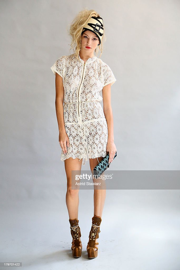 Models wearing clothing from Malt and Mash pose for photos during the Malt and Mash presentation during Mercedes-Benz Fashion Week Spring 2014 on September 6, 2013 in New York City.