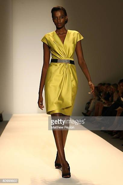 Models wearing Payless at Lela Rose Spring 2009 fashion show during MercedesBenz Fashion Week at The Salon Bryant Park on September 7 2008 in New...