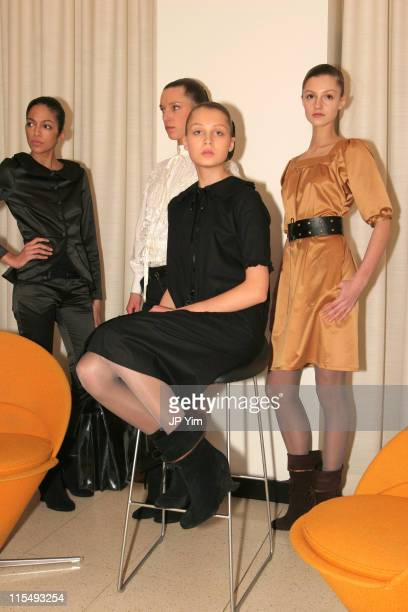 Models wearing Rodebjer Fall 2006 during Olympus Fashion Week Fall 2006 Rodebjer Presentation at Restaurant Aquavit in New York City New York United...