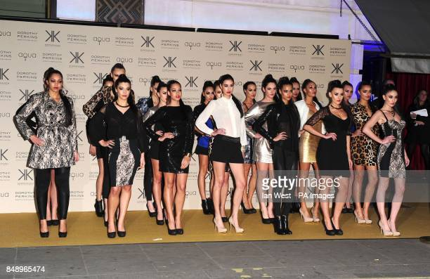 Models wearing the collection at a party to celebrate the UK launch of the Kardashian Kollection at Aqua London