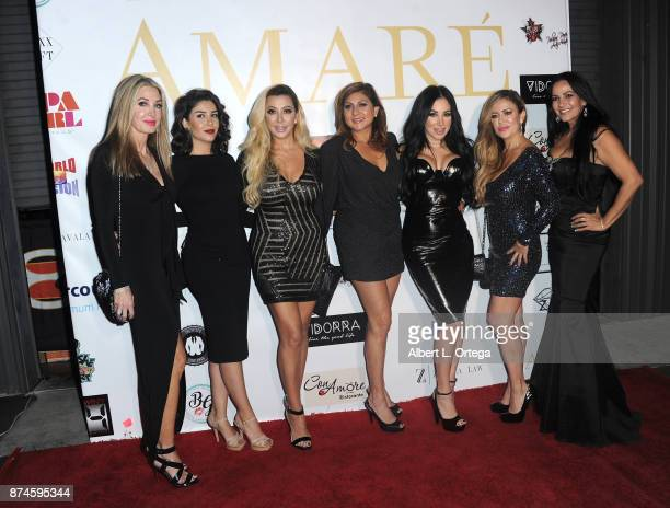 Models with Dr Fat Off Amare Magazine Presents A Black Tie Event featuring cover model Mike O'Hearn held at Hangar 21 on November 14 2017 in...
