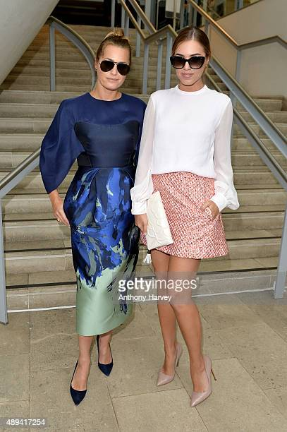 Models Yasmin Le Bon and Amber Le Bon attend the Antonio Berardi show during London Fashion Week SS16 on September 21 2015 in London England