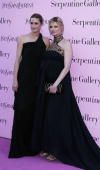 Models Yasmin Le Bon and Linda Evangelista attend The Serpentine Gallery Summer Party at the Serpentine Gallery on July 11 2006 in London England