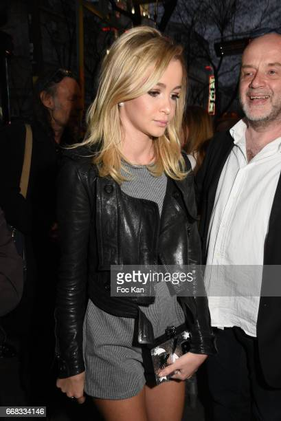 Model/singer Cassandra Foret sister of Jade Lagardere and Miss Belgium PR rep Etienne Louvain attend the David Desclos One Man Show at Theatre Le...