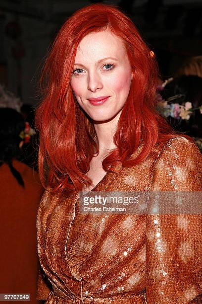 Model/singer Karen Elson attends the Erin Fetherston Fall 2010 fashion show during MercedesBenz Fashion Week at Milk Studios on February 14 2010 in...
