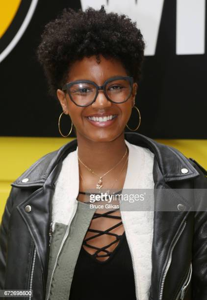 Model/Social Activist/Insprational Speaker Ebonee Davis poses as she speaks to 'Garden of Dreams Foundation' students about her journey at Buffalo...
