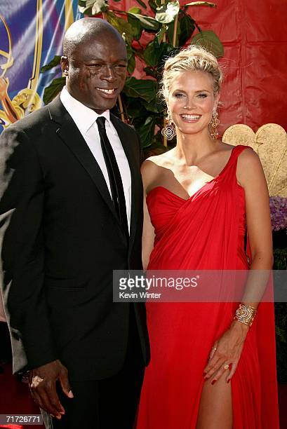 Model/television host Heidi Klum and husband/singer Seal arrive at the 58th Annual Primetime Emmy Awards at the Shrine Auditorium on August 27 2006...