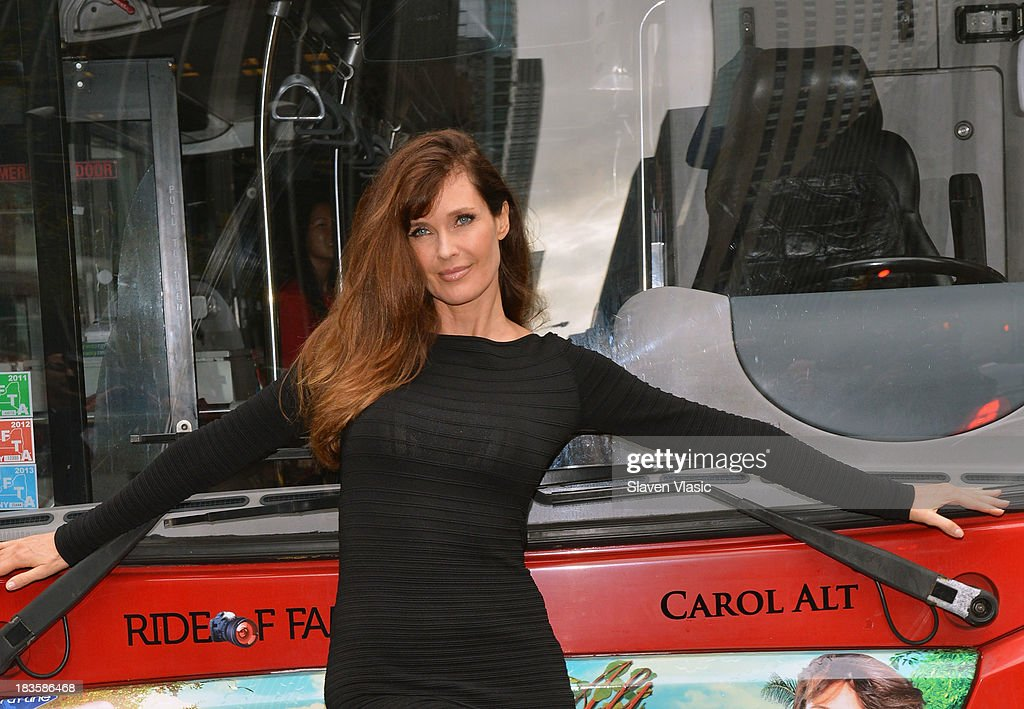 Model/TV personality <a gi-track='captionPersonalityLinkClicked' href=/galleries/search?phrase=Carol+Alt&family=editorial&specificpeople=202034 ng-click='$event.stopPropagation()'>Carol Alt</a> attends Gray Line New York 'Ride Of Fame' Induction Ceremony For Supermodel <a gi-track='captionPersonalityLinkClicked' href=/galleries/search?phrase=Carol+Alt&family=editorial&specificpeople=202034 ng-click='$event.stopPropagation()'>Carol Alt</a> on October 7, 2013 in New York City.