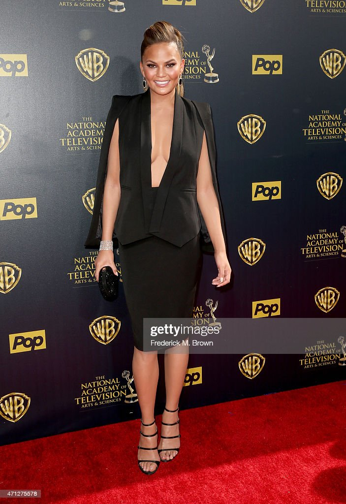 Model/TV personality Chrissy Teigen attends The 42nd Annual Daytime Emmy Awards at Warner Bros Studios on April 26 2015 in Burbank California