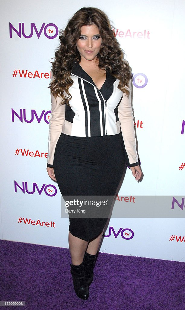 Model/tv personality Denise Bidot attends NUVOtv Network launch party at The London West Hollywood on July 16, 2013 in West Hollywood, California.