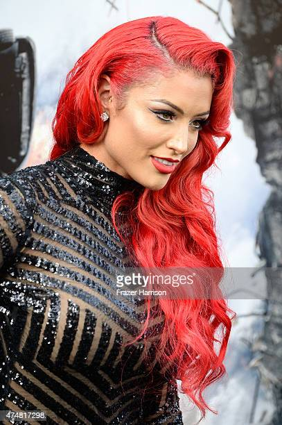 Model/TV personality Eva Marie attends the premiere of Warner Bros Pictures' 'San Andreas' at the TCL Chinese Theatre on May 26 2015 in Hollywood...