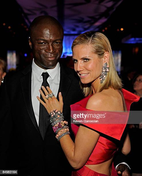 Model/tv personality Heidi Klum and husband musician Seal attend the 81st Annual Academy Awards Governor's Ball held at Kodak Theatre on February 22...