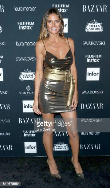 Model/TV personality Heidi Klum attends the 2017 Harper's Bazaar Icons at The Plaza Hotel on September 8 2017 in New York City