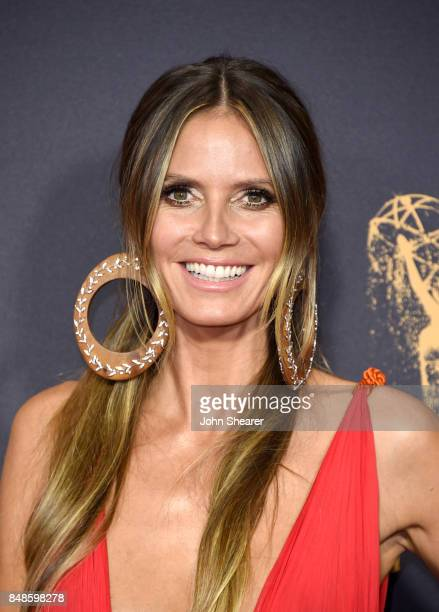 ModelTV personality Heidi Klum attends the 69th Annual Primetime Emmy Awards at Microsoft Theater on September 17 2017 in Los Angeles California