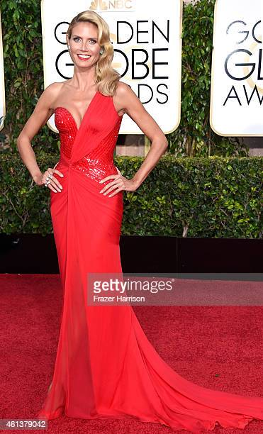 Model/TV personality Heidi Klum attends the 72nd Annual Golden Globe Awards at The Beverly Hilton Hotel on January 11 2015 in Beverly Hills California
