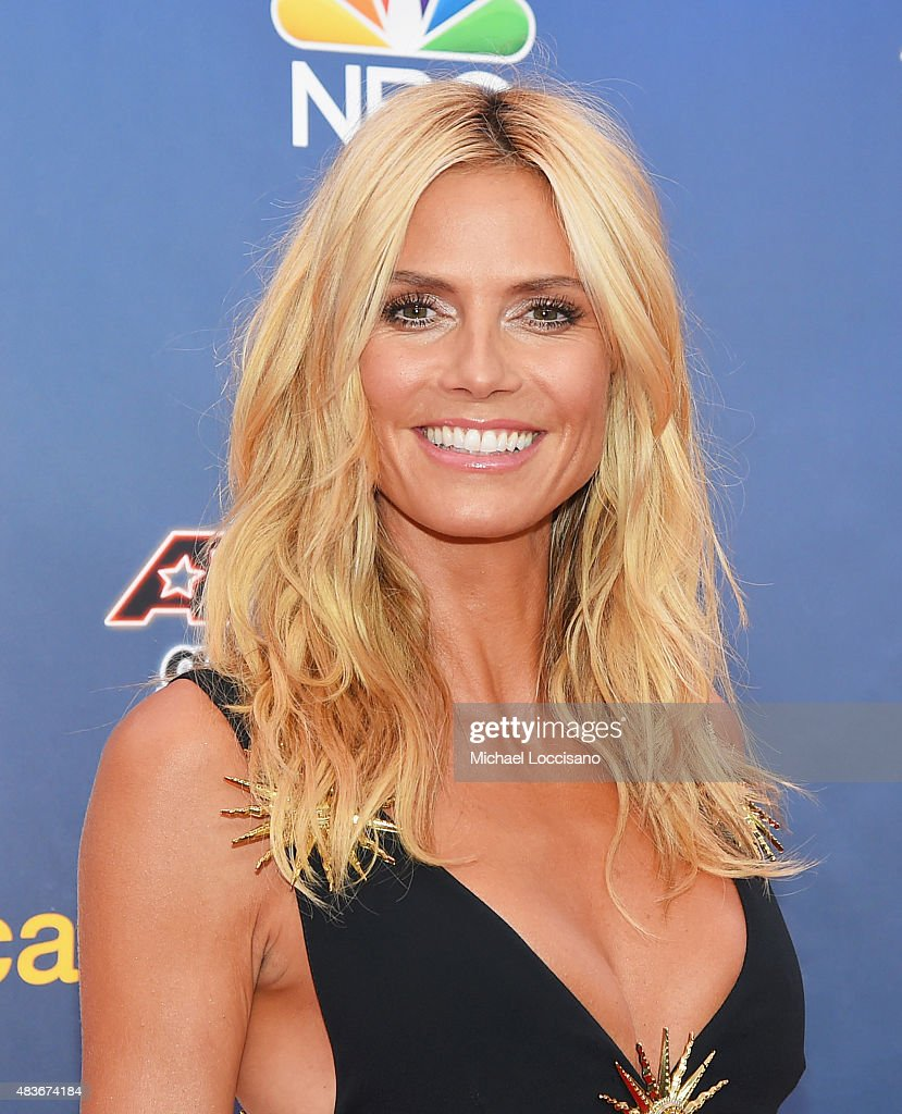 Model/TV personality <a gi-track='captionPersonalityLinkClicked' href=/galleries/search?phrase=Heidi+Klum&family=editorial&specificpeople=178954 ng-click='$event.stopPropagation()'>Heidi Klum</a> attends the 'America's Got Talent' season 10 taping at Radio City Music Hall on August 11, 2015 in New York City.