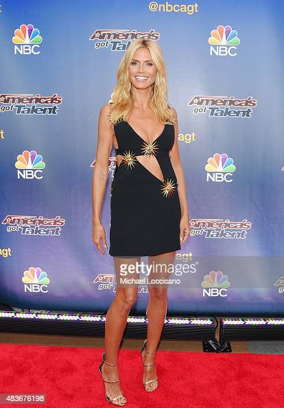 Model/TV personality Heidi Klum attends the 'America's Got Talent' season 10 taping at Radio City Music Hall on August 11 2015 in New York City