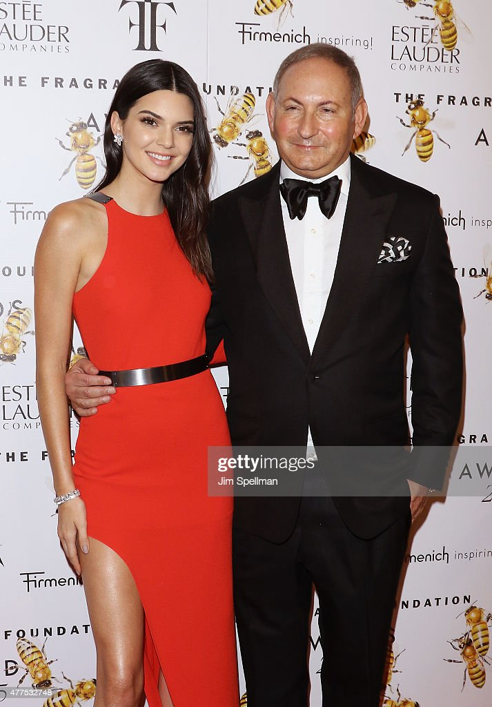 Model/tv personality Kendall Jenner and group president of Estee Lauder John Demsey attend the 2015 Fragrance Foundation Awards at Alice Tully Hall...