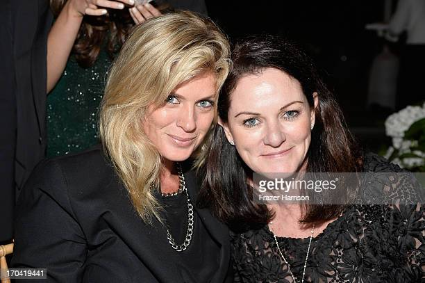 Model/TV personality Rachel Hunter and Australians in Film board member Michelle Day attend the Australians In Film and Heath Ledger Scholarship Host...