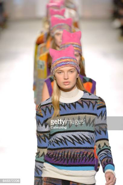 Modelz walk the runway at the Missoni Autumn Winter 2017 fashion show during Milan Fashion Week on February 25 2017 in Milan Italy