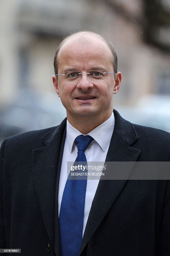 MoDem centrist party's candidate for the 2014 municipal elections in Belfort, Christophe Grudler poses on December 19, 2013 in Belfort, eastern France.