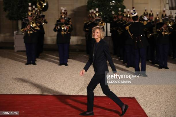 Modem party member of the parliament Marielle de Sarnez arrives for a state dinner for Lebanon's President at the Elysee Presidential Palace in Paris...
