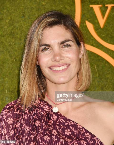 Mode/photographer Delfina Blaquier attends the 8th Annual Veuve Clicquot Polo Classic at Will Rogers State Historic Park on October 14 2017 in...