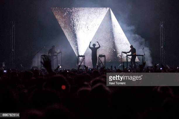 Moderat perform on stage during day 3 of Sonar 2017 on June 16 2017 in Barcelona Spain