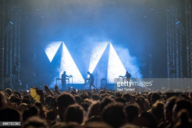 Moderat performs on stage during day 3 of Sonar 2017 on June 16 2017 in Barcelona Spain