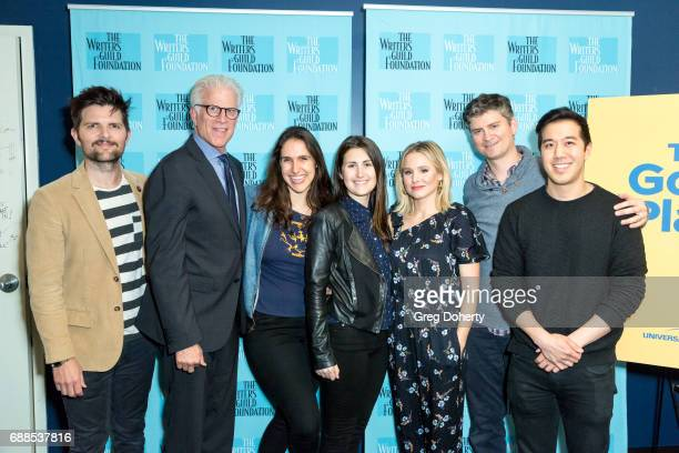 Moderator Adam Scott Actor Ted Danson Writers Megan Amram and Jen Statsky Actress Kristen Bell and show creator Michael Schur and Writer Andrew Law...