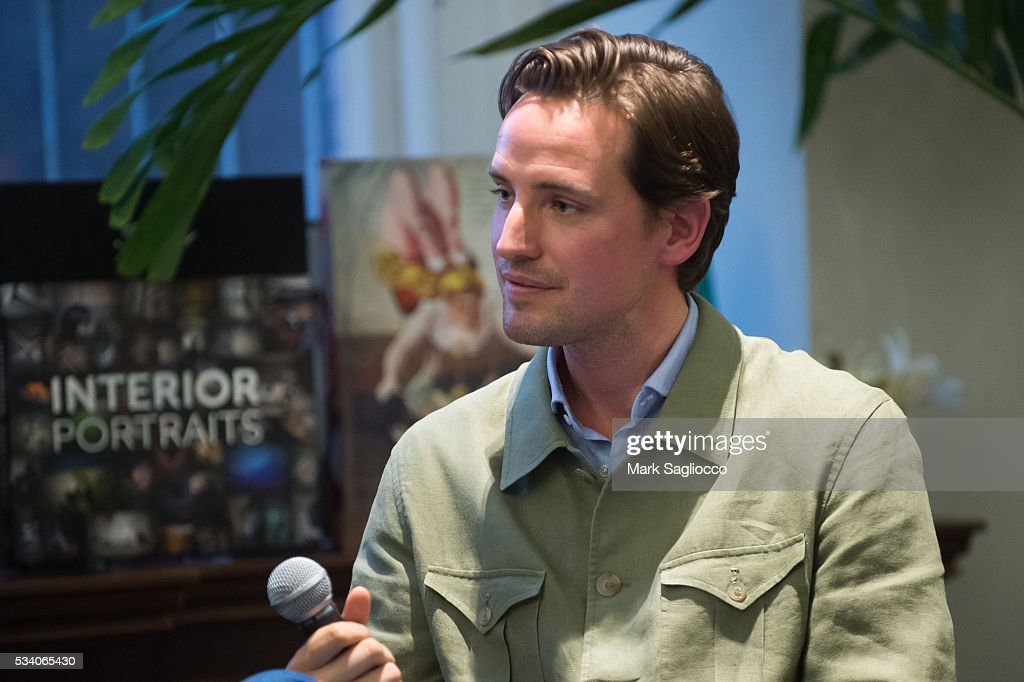 Moderator Alexander Gilkes attends the Bill Jacklin Book Launch Party at Rizzoli Bookstore on May 24, 2016 in New York City.