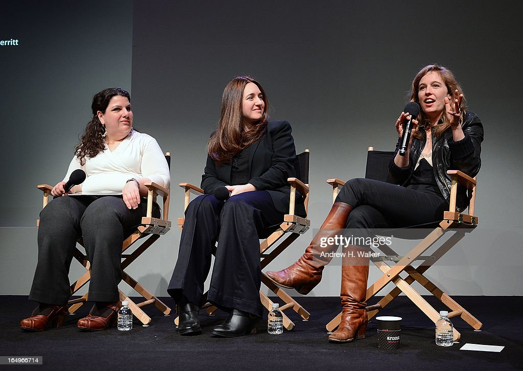 Moderator Anastasia Tsioulcas, classical pianist Simone Dinnerstein and singer-songwriter Tift Merritt attend Meet the Musicians at the Apple Store Soho on March 29, 2013 in New York City.