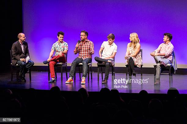 Moderator and Director of Glaad Trans Media Program Nick Adams actor Michael J Willett producer Carter Covington actor Elliot Fletcher actor Rita...