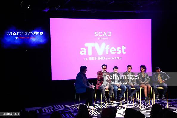 Moderator and TV Guide Magazine's Jim Halterman Executive Producer Peter Lenkov Co EP Jeff Downer Actor Lucas Till Actress Tristin Mays and Actor...