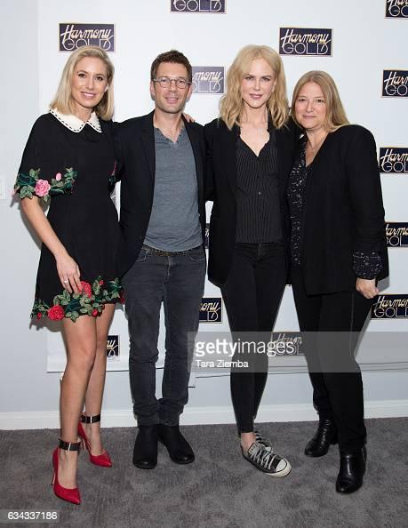 Moderator and TV journalist Kathryn Eisman executive producer Per Saari actress Nicole Kidman and executive producer Bruna Papandrea attend a...